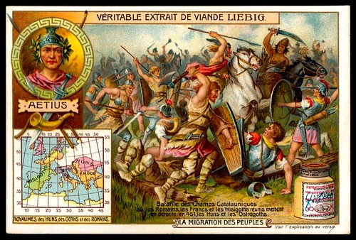 Liebig Tradecard S824 - Battle of the Catalaunian Plains