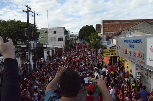 Ato contra a reforma da Previdência no Centro de Fortaleza