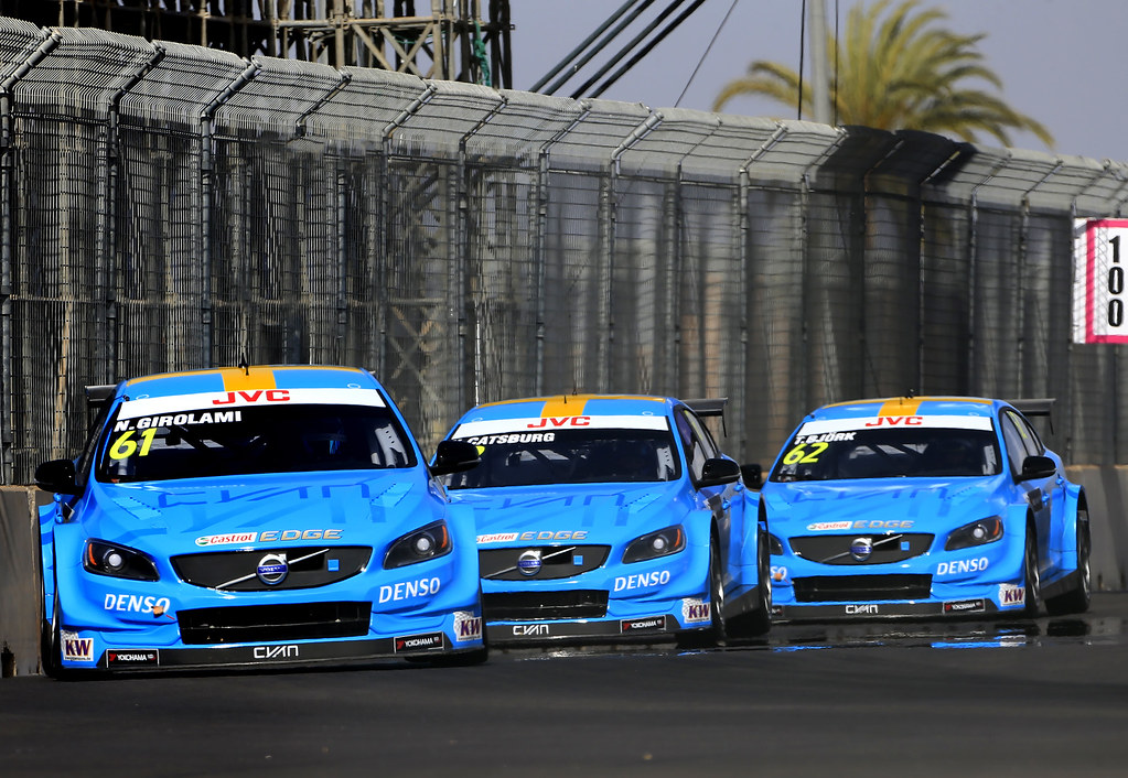 61 GIROLAMI Nestor (arg) Volvo S60 Polestar team Polestar Cyan Racing action 62 BJORK Thed (swe) Volvo S60 Polestar team Polestar Cyan Racing action 63 CATSBURG Nicky (ned) Volvo S60 Polestar team Polestar Cyan Racing action during the 2017 FIA WTCC World Touring Car Race of Morocco at Marrakech, from April 7 to 9 - Photo Paulo Maria / DPPI
