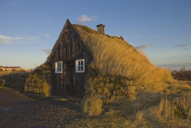 Architecture rurale, musée d'Arbaer de Reykjavik