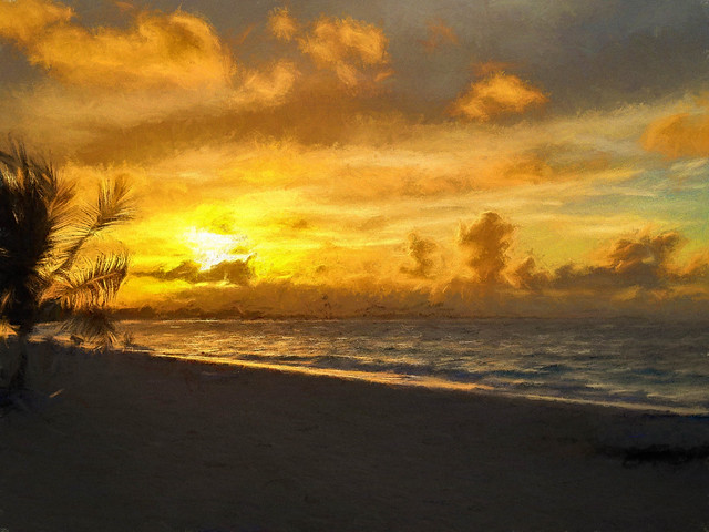 Bavaro Beach Sunset, Nikon COOLPIX L20