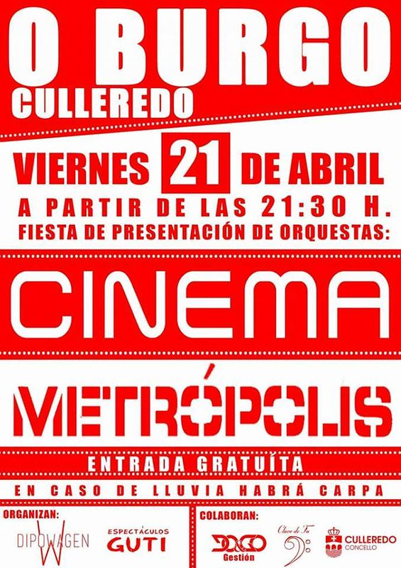 Culleredo 2017 - Festa de presentación de orquestras no Burgo - cartel