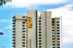 Hurricane Wilma Damage, 1515 Tower, West Palm Beach, March 2006