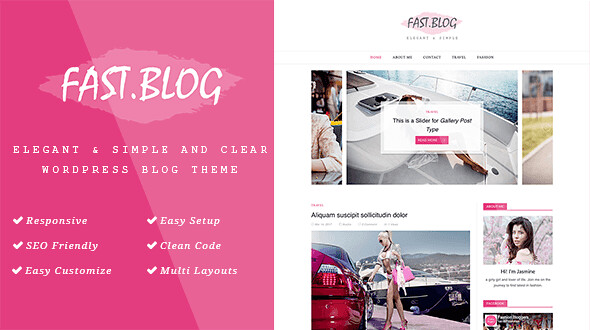 FastBlog WordPress Theme free download