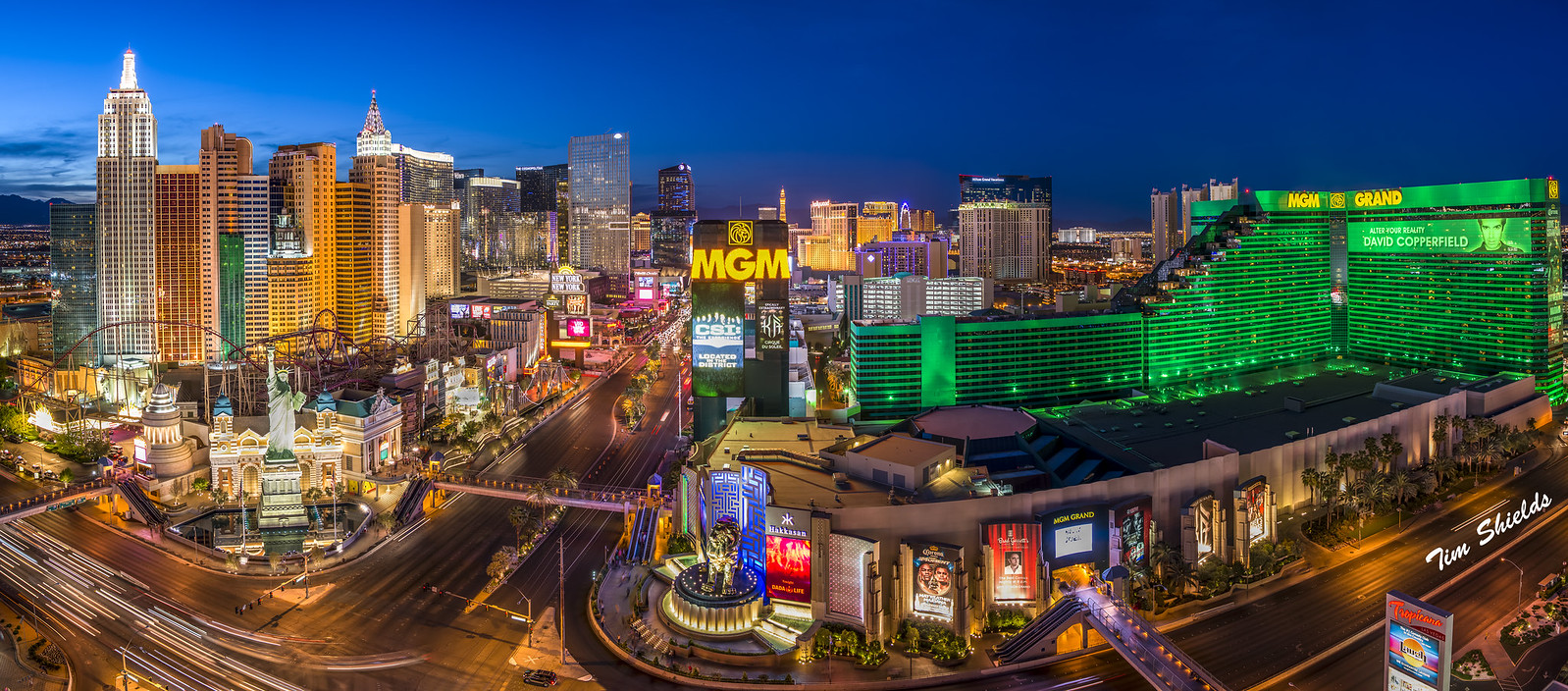 Las Vegas Strip high resolution panorama