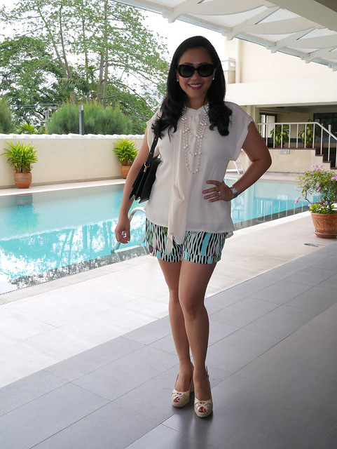 market top - jlo shorts - weitzman shoes - prada shades - lv bag3