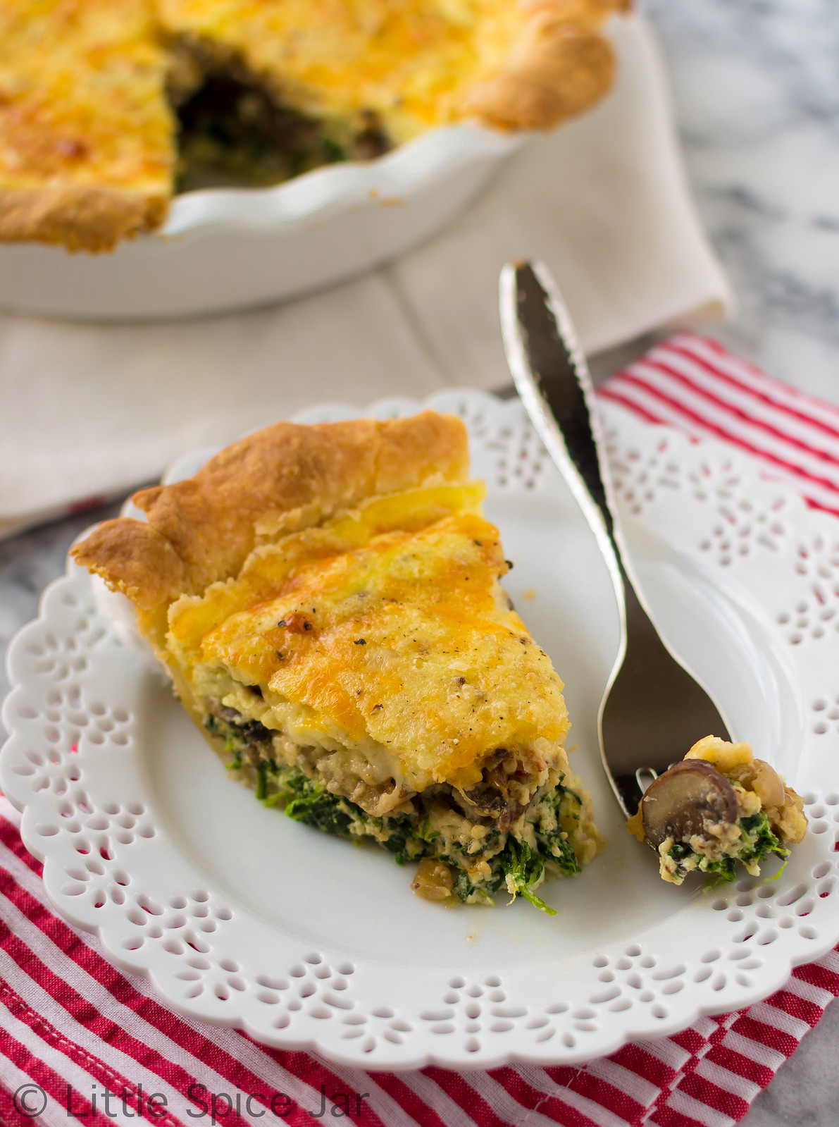 Cheesy Spinach Mushroom Quiche Final 5