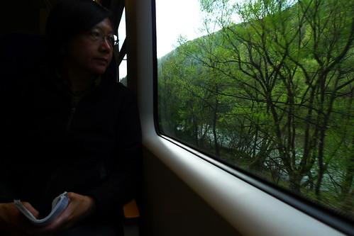 On the train to Cluj-Napoca, Romania