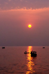 Sunset, Lake Tonle Sap, Cambodia