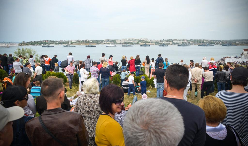 Парад кораблей Черноморского флота РФ 9 мая 2014