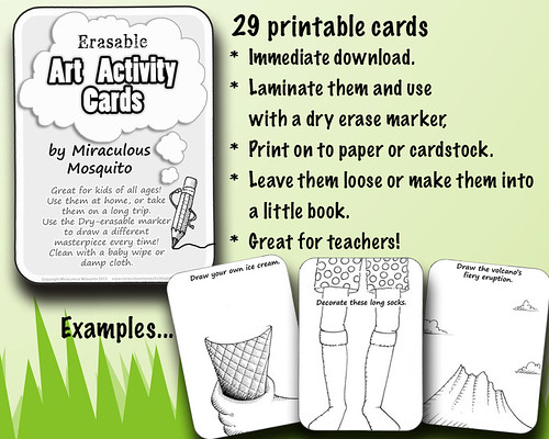 activity cards front page display