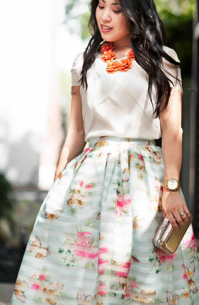 Mint Butterfly Floral Midi - cute & little