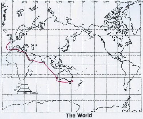 Route to Australia - via Suez Canal