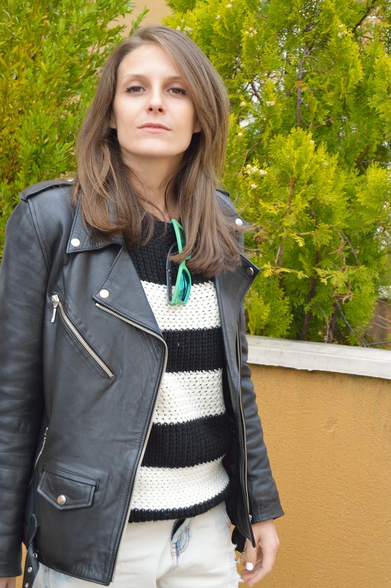 lara-vazquez-madlula-blog-leather-jacket-pop-of-green