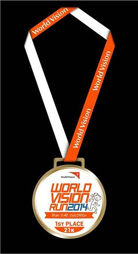 World Vision Run 2014 female winner medal