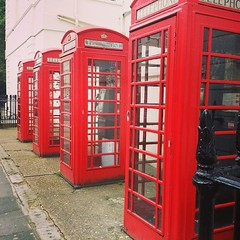London phone box.