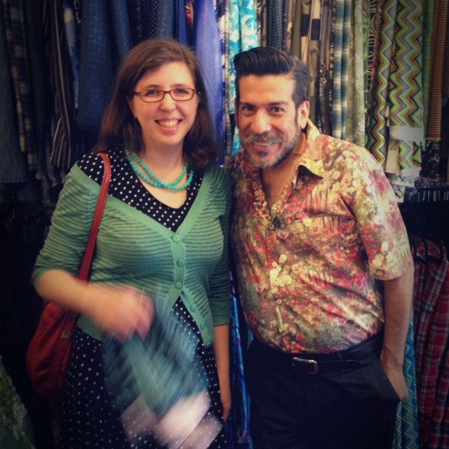 Randomly got to meet Daniel from Project Runway while fabric-store-touring Austin with @moonthirty, @dixiediy + @angmso (at Tex Styles)