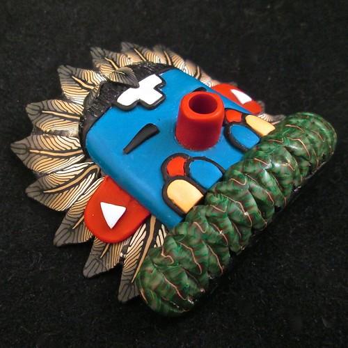 Morning Singer Kachina Mask/Bracelet tile/Pendant