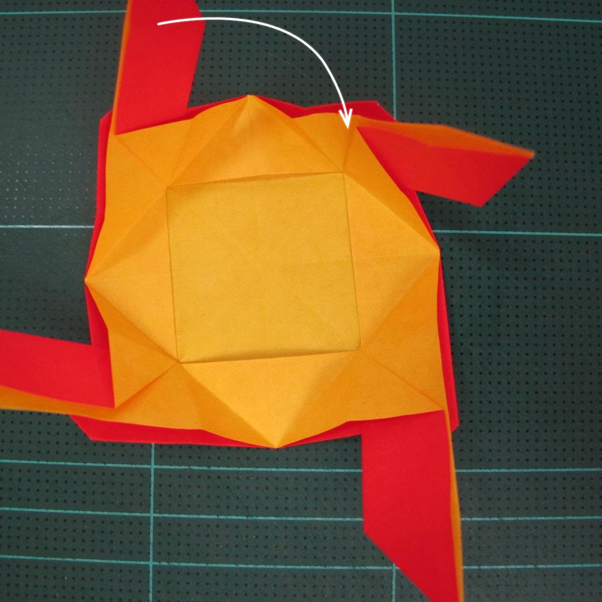 สอนวิธีพับกระดาษเป็นดอกกุหลาบ (แบบฐานกังหัน) (Origami Rose - Evi Binzinger) 015