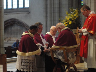 2014 - Solemnity of St George: Archbishop Peter with the Cathedral Canons