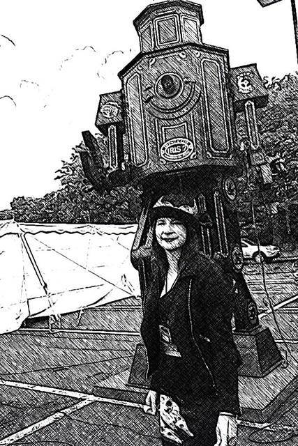 Stalked by the Giant Robot at the SteamPunk Worlds Fair