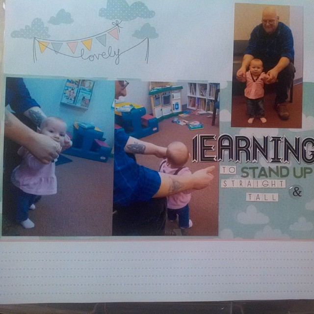 LOAD 514 - Learning to Stand Up Straight and Tall - scrapbooking layout