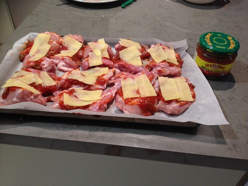Adro's Chicken Parma ready to go in the oven