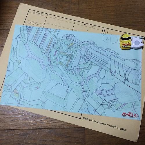ガンダムUCの入場者特典、複製原画はユニコーンでした