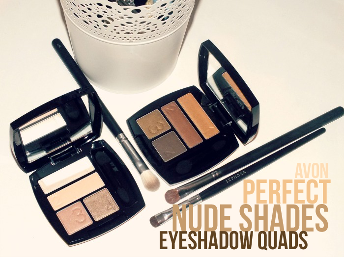 Avon True Colour Eyeshadow Quads- Naked Truth and Grin & Bare It copy