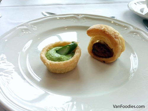 Asparagus Tart & Apple and Chicken Roll