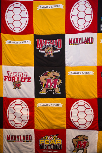 UMD quilt made of T-shirts
