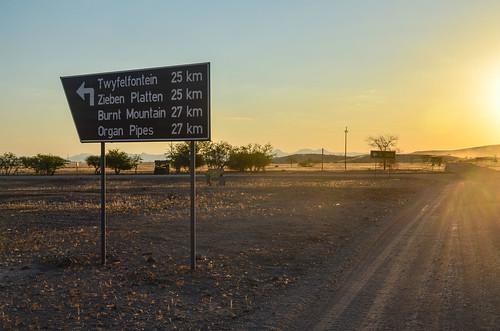 Belle semi-désert à Damaraland