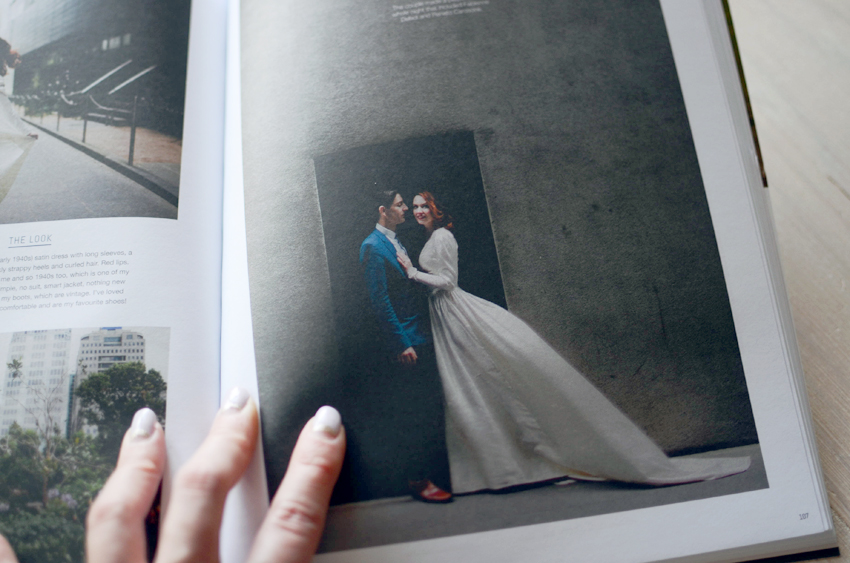 white magazine wedding feature c