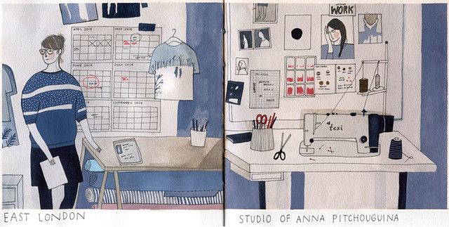 anna pitchouguina's studio