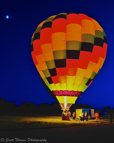 county travel vacation sky people moon newyork hot night fire fairgrounds spring twilight nikon glow basket air tripod balloon gondola bluehour trailer burner oswego balloonfest sandycreek d700 scottthomasphotography afsnikkor24120mmf4gedvr