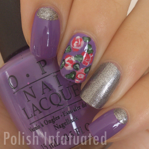 purple, silver and roses1