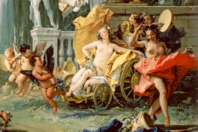 Detail from 'The Empire of Flora' by Giovanni Battista Tiepolo, inspired by Ovid's Fasti, c. 1743