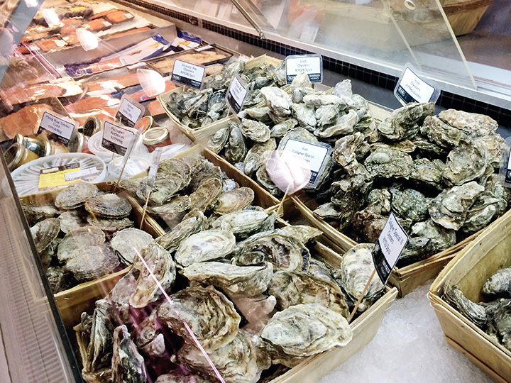 oysters from Ben's Independent Grocer