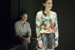 Mark Strong (Eddie) and Phoebe Fox (Catherine) in A View from the Bridge at the Young Vic. Photo by Jan Versweyveld.
