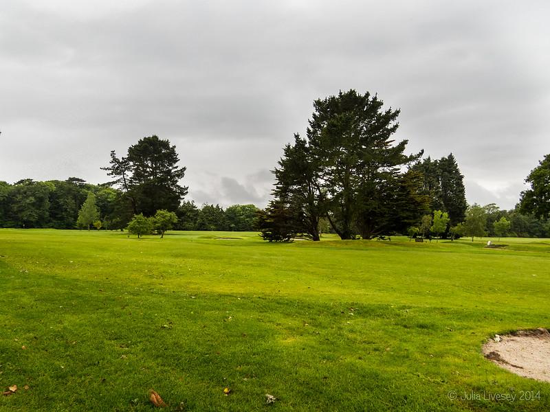 Walking across Highcliffe Golf Course