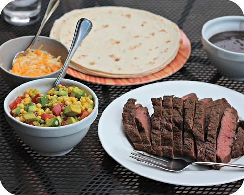 Beef Fajitas with Corn Salsa