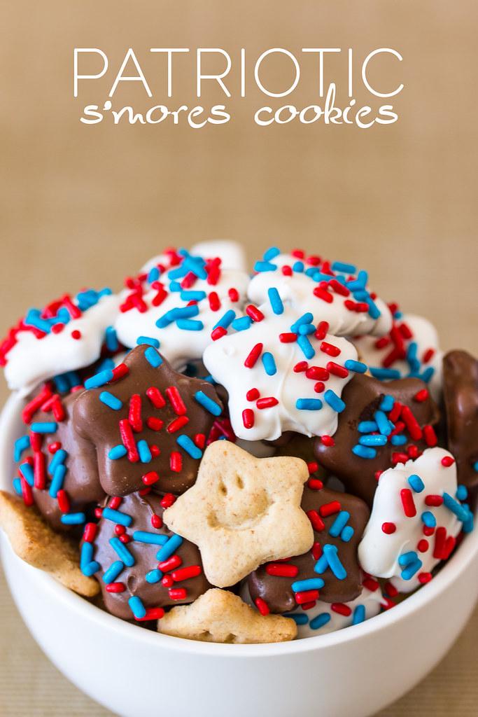 Patriotic S'mores Cookies