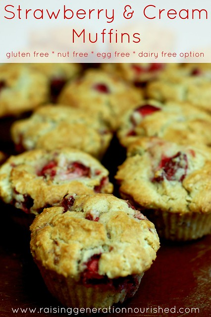 Strawberry & Cream Muffins :: Gluten, Nut, + Egg Free With Dairy Free Option