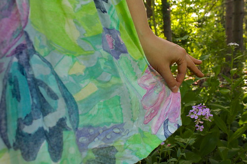 watercolor vintage dress