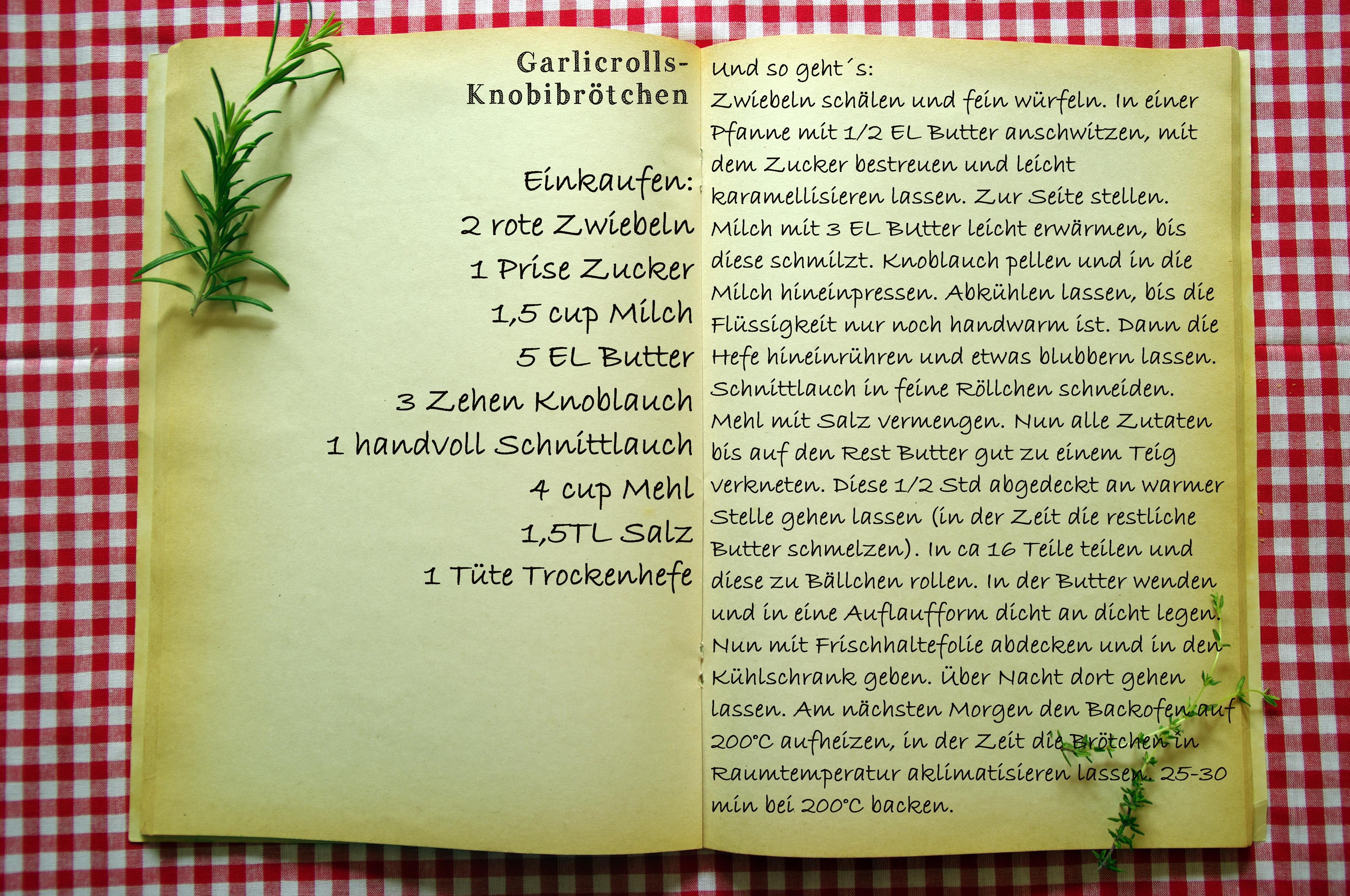 Einkaufszettel Garlicrolls by Glasgefluester
