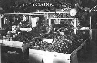 Photograph of a Fruit and Vegetable Stand in Center Market, 02/18/1915