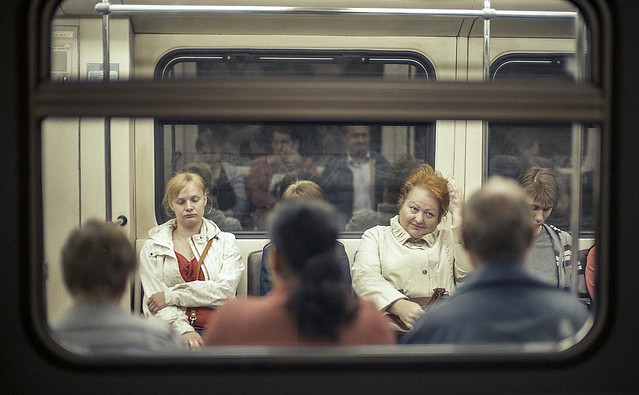 The Subway People.  Moscow.
