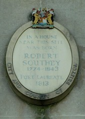 Photo of Robert Southey stone plaque