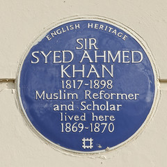 Photo of Syed Ahmed Khan blue plaque