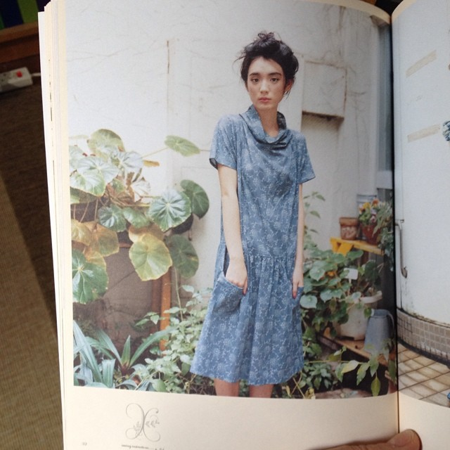 Considering what to sew next. Possibly this dress from the wonderful 'Clothing for Everyday Wear' by Yoshiko Tsukiori? Loving the neckline. #dressmaking #dress #patterns